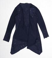 Quiz Womens Size 10 Textured Blue Cardigan (Regular)