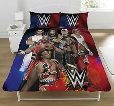 WWE Superstars Bettwäsche & 2x Kissenbezug für Doppelbett Duvet NEU Cena, Reigns