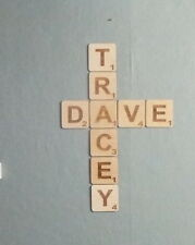 Large Wooden Scrabble Tiles,Wall Art  , SOLID WOOD  9cm, 12cm, 20cm SIZES