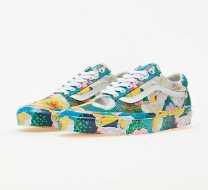KENZO Paris X Vans OG Floral White Yellow Tulips Men's Size 13 Shoes 721278 New