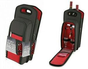 KOVOT 9 Piece Wine Travel Bag & Picnic Set