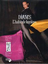Publicité Advertising 1989 Lingerie DIM collants bas sous vetement  DIAM'S