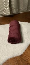 """Red Maroon Super Soft Cozy Throw Blanket 39"""" X 54"""" NWOT"""