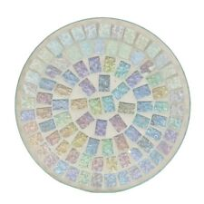 Ice white Lustre Mosaic Candle Plate G23686