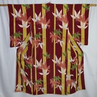 "Vintage Japanese Woman's Kimono Robe Collectible Display ""Bamboo Forest"""