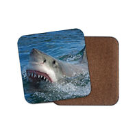 Great White Shark Attack Coaster - Ocean Marine Hunter Sea Predator Gift #15238