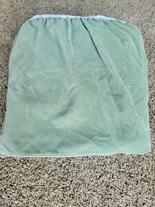 Vintage Ralph Lauren Sage Green Velvet Queen Bedskirt
