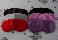 100% Mulberry Silk Eye Mask - 5 Colours Brand New - Health Benefits Anti Ageing