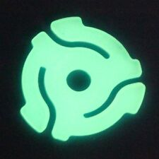 """Set Of 5 Brand New Glow In The Dark 45 RPM 7'"""" Vinyl Record Adapters Dinked"""