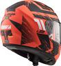 LS2 FF397 FT2 Vector Hunter Orange Ktm INTÉGRAL Double visière casque moto