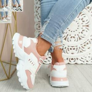 WOMENS LADIES CHUNKY SPORT TRAINERS SNEAKERS SPORTS WOMEN SHOES SIZE UK