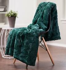 "Chanasya Super Soft Luxury Sherpa Throw 50x65"" Teal Warm Elegant Cozy Faux Fur"