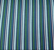 Newport by Studio 8 BTY Quilting Treasures White Blue Green on Navy Blue Stripe