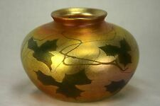 Antique Tiffany Studios Vase with Leaf Pattern ca1910