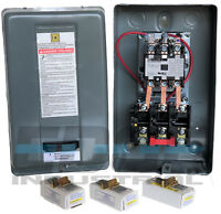 Motor Starter 20hp 3ph 230V magnetic starter control from GE General ELectric 60 amp for air compressor electric motor