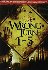 Wrong Turn Collection 1 / 2 / 3 / 4 / 5 (5 Disc) DVD NEW