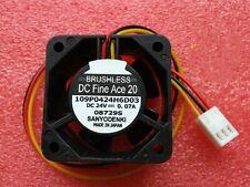 1pcs Sanyo 4020 109P0424H6D03 Fan DC24V 0.07A 4CM