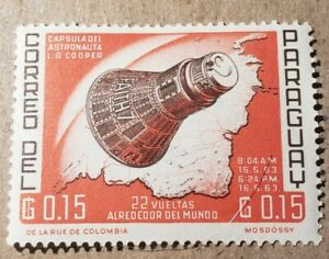 GM89 PARAGUAY 1963 SPACE CAPSULE G0.15 MNH STAMP