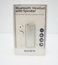 Sony SBH56 Bluetooth Headset with Speaker - Silver - Retail Packaging