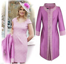 SALE Carla Ruiz 91210 Coat & Dress, UK14, Rosa, RRP £650