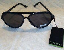 Authentic Kyusu Women's Sunglasses Black Frames Imported Europe Retail $50