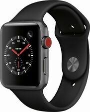 APPLE WATCH SERIES 3 42MM GPS + CELLULAR SPACE GRAY BLACK SPORT BAND SEALED NEW!