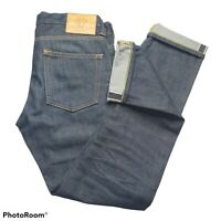 Japan Blue Redline Selvedge Raw Denim Jeans Pants 30x29 Hipster Dark Wash Skinny