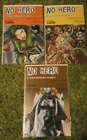 No Hero LOT OF 3 VARIANT COVERS #2, #3 SKETCHBOOK  Avatar WARREN ELLIS