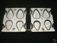 FISHING 4 IN 1 FLAT PEAR LEAD WEIGHT MOULD TFT