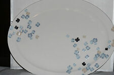MARTHA STEWART Collection Water Blossoms Oval Platter New In Box Retail $100