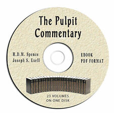 Pulpit Commentary-ALL VOLUMES-Spence-Exell-eBook on CD PDF-Christian Bible Study