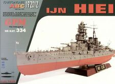 Japanese Battleship IJN HIEI paper model 1:200 huge 111cm