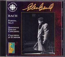 Glenn Gould: CBC broadcasts Bach partita n. 5 piano Italian Concerto Inventions