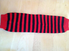 my little legs LEG WARMERS Red and Navy Striped  style  NEW