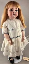 """20"""" Antique German Bisque Head Doll K&R 121 w/ Toddler Body! 18055"""