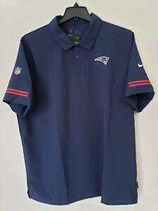 Nike NFL NE PATRIOTS Size 2XL On Field Apparel Polo Blue CJ8420-419 Nwt
