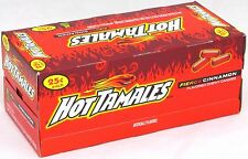 Hot Tamales Fierce Cinnamon Chewy Candy 1 Box of 24 Individual Packs Bulk