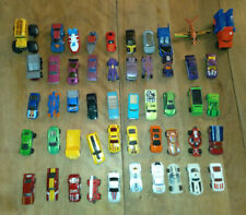 Lot of 50 used Hotwheels, Matchbox and other toy cars, trucks, and a plane
