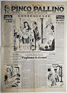 Pinco Pallino settimanale umoristico illustrato-2 numeri anno I°numero 8-10-1946