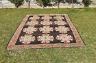 Floral Design Turkish Traditional Oriental Multi Color Wool Area Kilim 6x11 ft