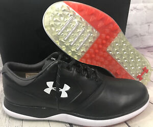Under Armour Men's Performance SL Leather Black Golf Shoes Size 9.5 New With Box