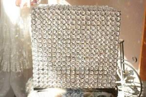 Faux Crystal Wedding Card Box Money Holder 12x12x8 Reception Greeting Card