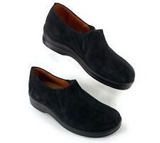 Footprints By Birkenstock Black Suede Leather Slip On Shoes Women's 8 US, 38 EUR