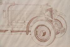 Vintage Original Drawing 1930 Bentley Signed Melbourne Brindle