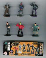 Raro Set Completo 6 Figuras de Acción Man Tomy Gashapon 5cm Cake Toppers Etc