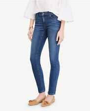 Ann Taylor-Size 00 Blue Coastal Breeze Wash Curvy Skinny Ankle Jeans $89.00(D34)