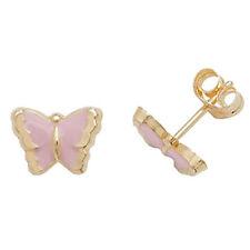 Pendientes de joyería Mariposa oro amarillo