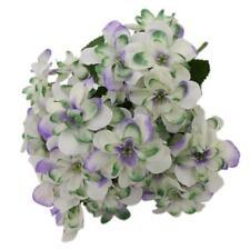 Artificial Hydrangea Blossom Cloth Flowers 5 Stems Flower Arrangements White