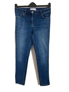 Next Size 10R Blue Relaxed Skinny Mid Rise Jeans -(C99)