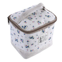 Travel Floral Dot Toiletry Bag Pouch Zipper Case Makeup Large Cosmetic Holder G